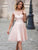 A-line Homecoming Dress Short/Mini Pink Homecoming Dresses kmy455