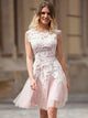 A-line Homecoming Dress 2017 Short Pink Homecoming Dresses kmy457