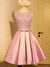 2017 A-line Homecoming Dress Short Pink Homecoming Dresses kmy458