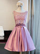 2018 A-line Short Homecoming Dress Pink Cooktail Dress kmy460 - DemiDress.com