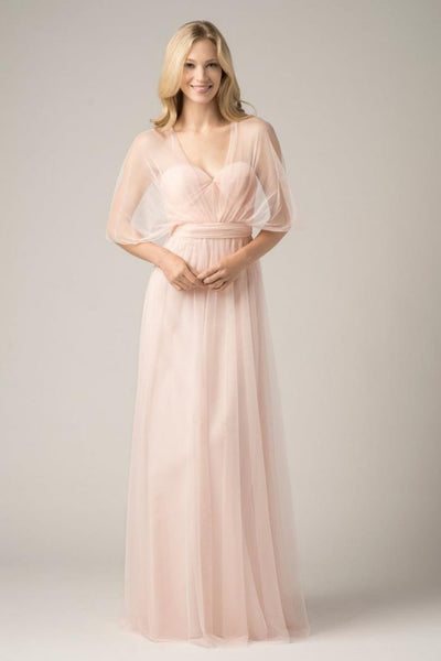 A-line Bridesmaid Dresses Chiffon Sweetheart Long Bridesmaid Dresses kmy521