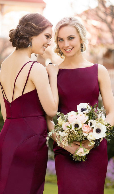 Trumpet/Mermaid Bridesmaid Dresses Bateau Long Bridesmaid Dresses kmy528