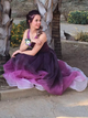 A Line Prom Dress Modest Cheap Long Ombre Prom Dress #VB1801