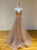 A line Tulle Prom Dress Beauty Lace Beading Prom Grown VB5335