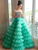 Ball Gown Vintage Prom Dress Strapless Plus Size Prom Gown # VB5469