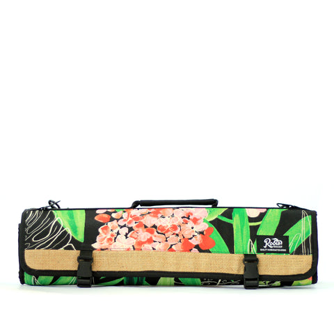 KNIFE BAG BLACK FLORAL