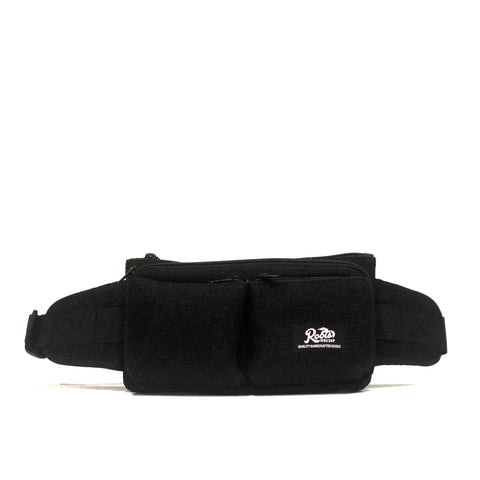 BLACK MULTI POCKET FANNY