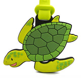 Sunny Green Sea Turtle Luggage Tag
