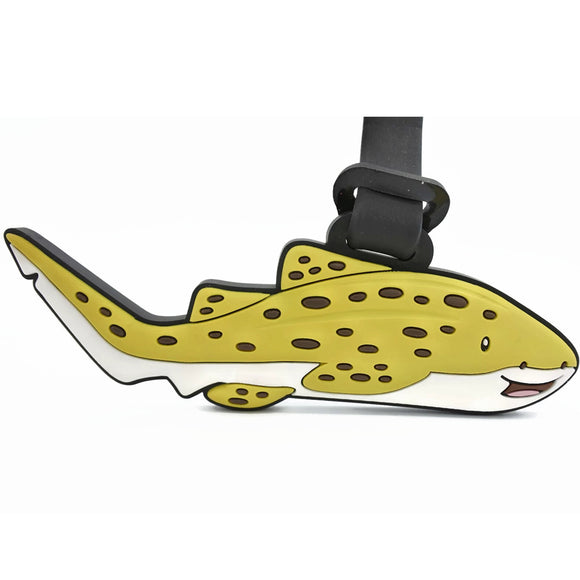 Leo Leopard Shark Luggage Tag