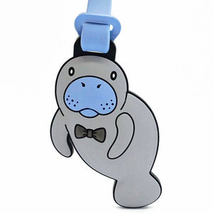 Magnus Manatee Luggage Tag