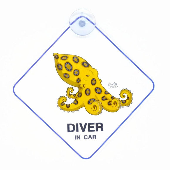 Looney Blue-Ringed Octopus Window Sign
