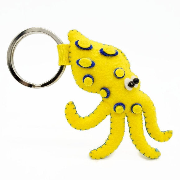 Looney Blue-Ringed Octopus Keychain