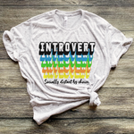 Introvert Marble Bella+Canvas tee