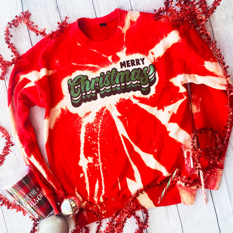 """Merry Christmas"" Red Sweatshirt"