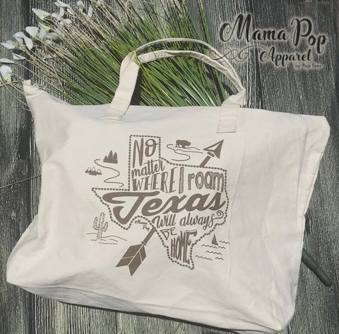 **Minimum 6 Pieces per Design**Texas is Home Tote Bag