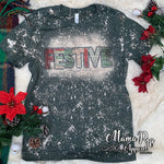 **SUBLIMATED** Bleached Heather Forest Rustic Festive