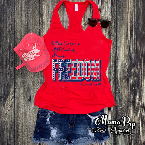 **Minimum 6 Pieces per Design** FREEDOM Ladies Racerback Tank