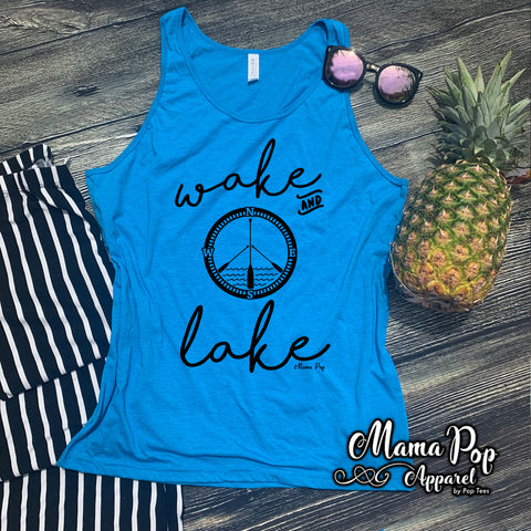 **Minimum 6 Pieces per Design** Wake & Lake tank top