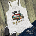 """Wild and Free"" Flowy Ladies Bella Tanks"