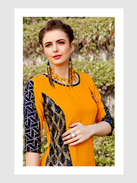 Dark Yellow with Designer Sleeves