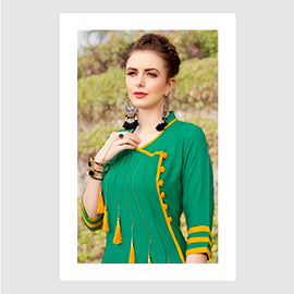 Green Party wear women Fashion