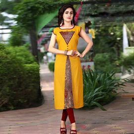 Yellow Designer Kurta