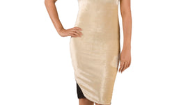 Golden Micro Fur Body Con for women