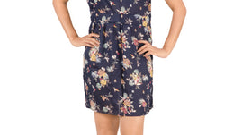 Blue Floral Print | Front Key Hole | Elastic On The Waist