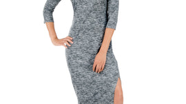 Dark Grey & White Texture | Bodycon