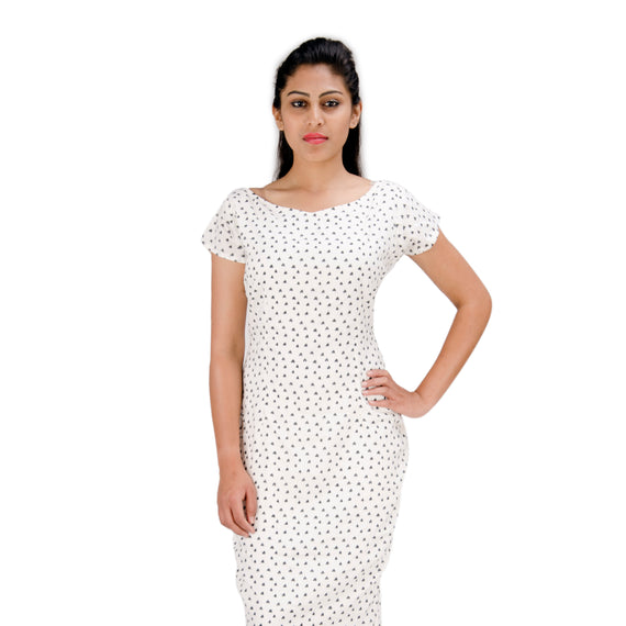 Off White | Heart Shape Print | Bodycon