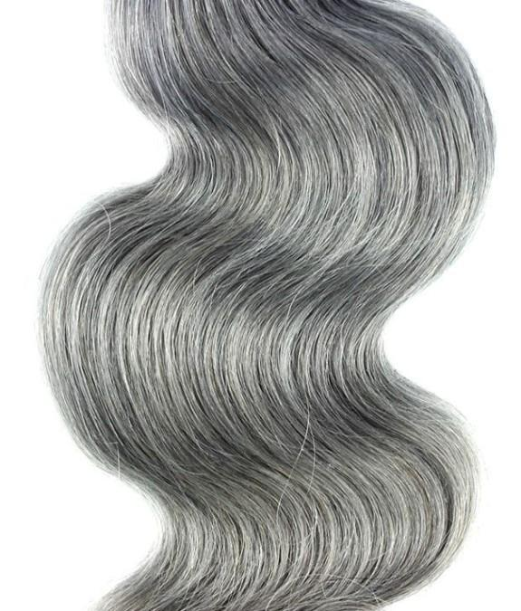 Brazilian Gray Body Wave Hair Extensions