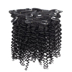 7 Pieces Malaysian Curly Clip Ins Hair Extensions