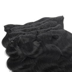 7 Pieces Brazilian Body Wave Clip Ins Hair Extensions