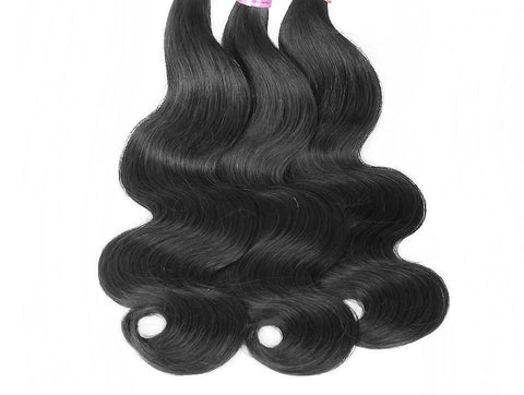 Brazilian Body Wave 3 Bundles Deal with 4x4 Closure