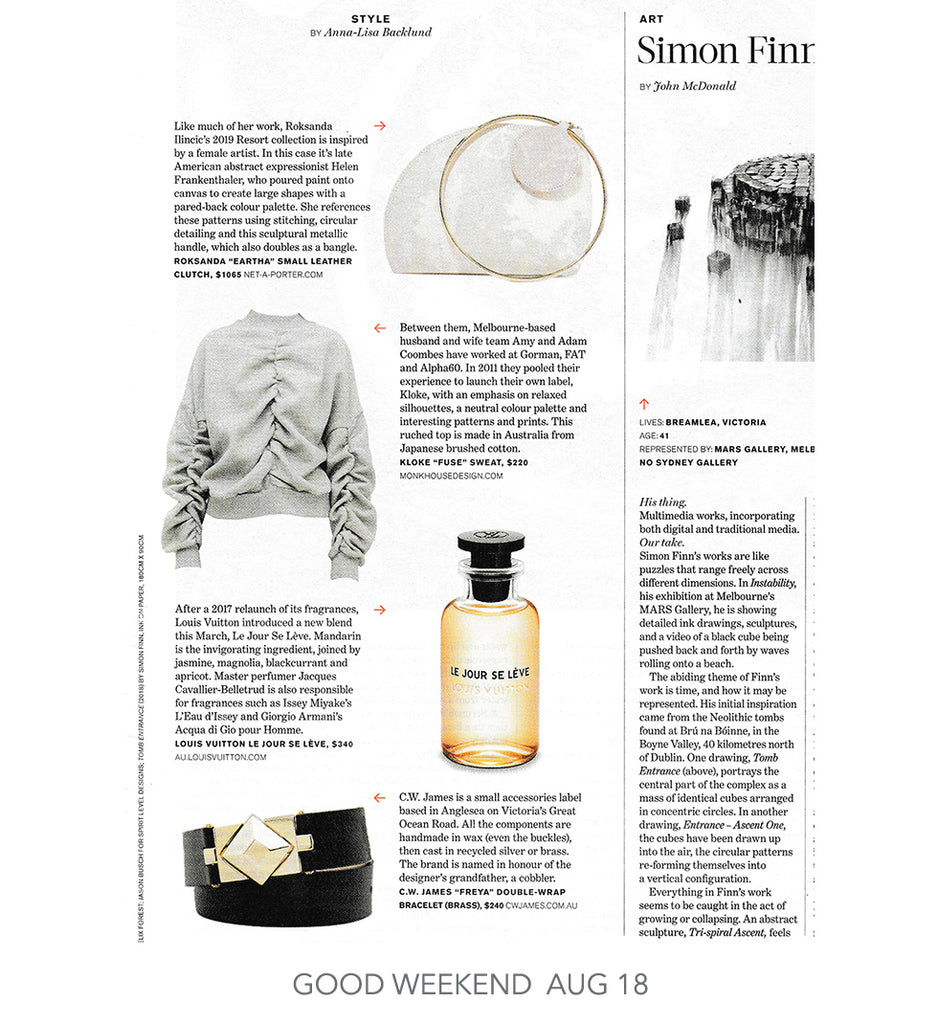 C.W. James Freya bracelet featured in  The Age Good Weekend