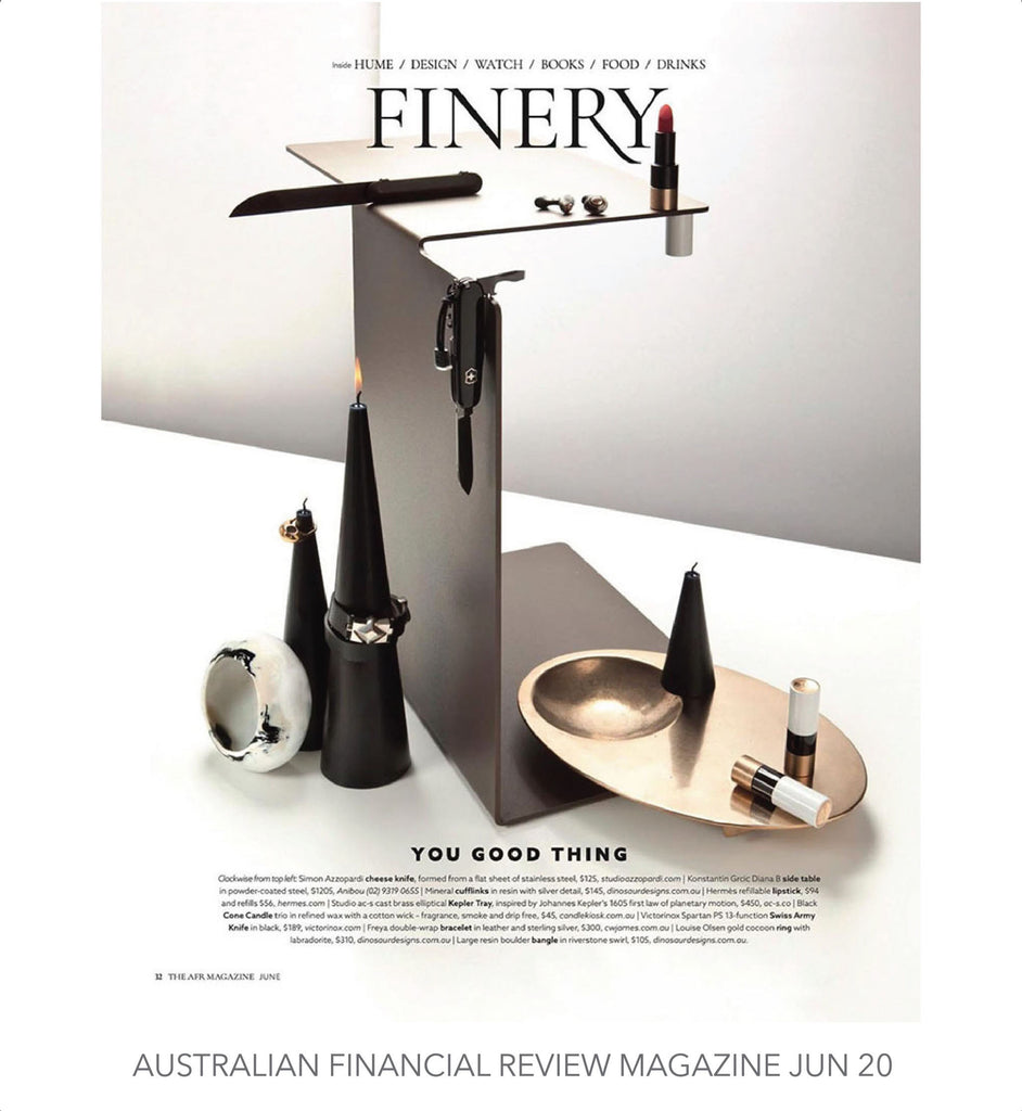 C.W. James Freya bracelet Australian Financial review magazine