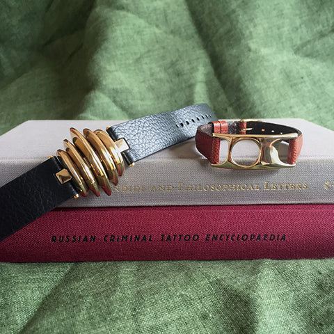 Selene and Viola leather bracelets C.W. James