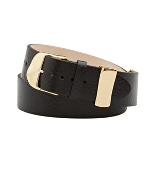 C.W. James Theodora bracelet brass leather custom buckle