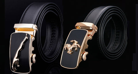 Automatic lock Horse and jaguar Buckle Belts