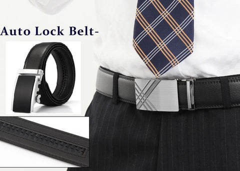 wedding dress auto lock leather belt