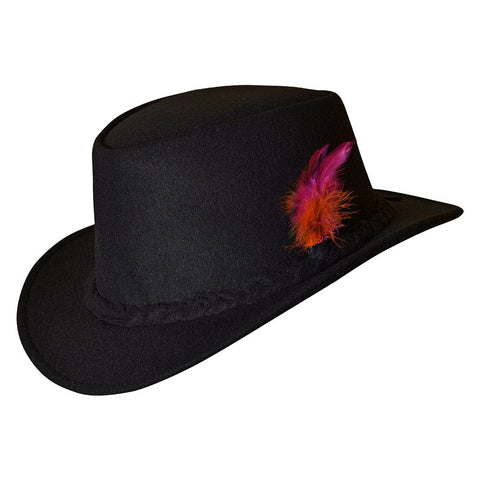 Bavarian Country Men Wool Hat Black