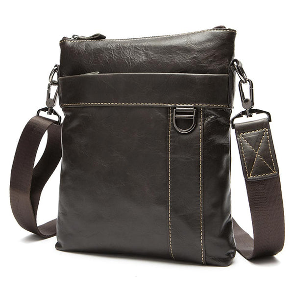 Leather Crossbody Shoulder Messenger Handbag Tablet Satchel bag