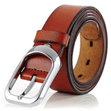 Leather Decent Dress Business Soft Smooth Black Brown Belt