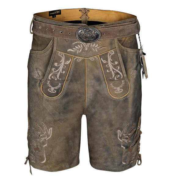 Leather lederhosen with belt