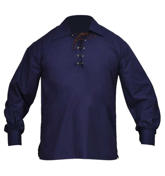Jacobite Ghillie Shirt Navy Blue