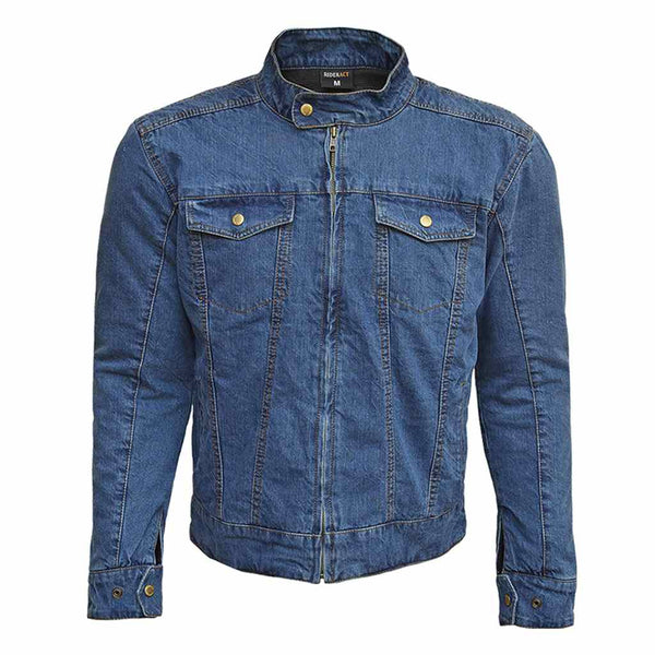 RIDERACT™ Reinforced Denim Jacket RoadRush Blue