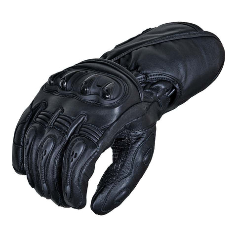 Gentry Choice Leather Motorcycle Gloves Black Long Cuff