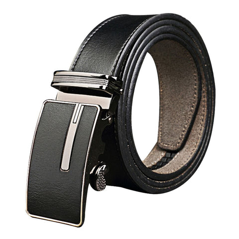 motorcycle pants Leather Auto Lock Antique Buckle Cotton Lining Soft Black Belt