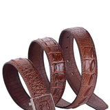 Fashion Designer Crocodile Grain Texture Leather Belt