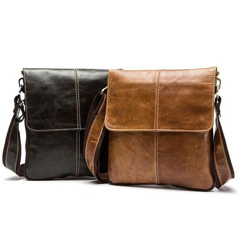 Leather Men's Cross body Shoulder Messenger Bag Tablet Satchel Handbag